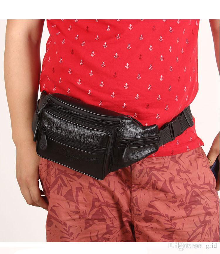Wholesale High quality Brand New Multi functional Drop Leg Motorcycle Cycling Fanny Pack Waist Belt Bag Men waist bag Black Color
