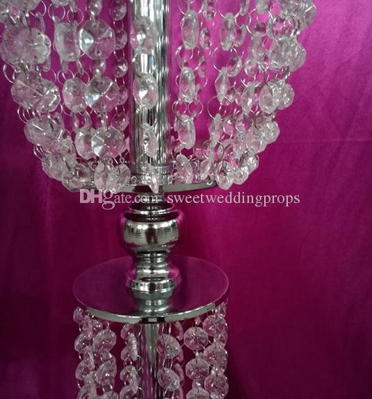 uzun yeni stil Düğün Centerpiece akrilik Eyfel şerit veya Centerpiece Için altın Vazo