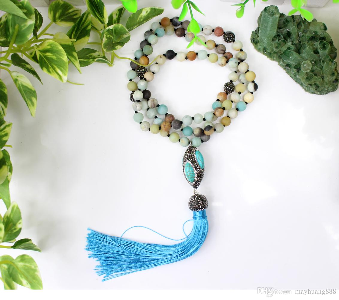 moon the forest healing enchanted natural products stone necklace