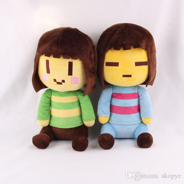 "Hot ! 2pcs/Lot Undertale Frisk Chara Plush Stuffed Doll Toy For Kids gift New 8"" 20CM"