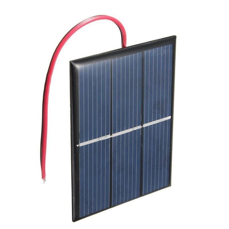 Wholesale 0.65W 1.5V Solar Cell Polycrystalline Solar Panel DIY Solar Charger plus 15CM Cable Education Kis