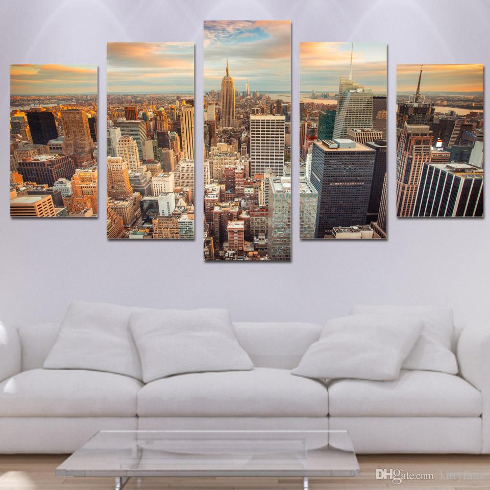 Framed HD Printed New York Empire State Building Wall Pictures Canvas Print Poster Asian Modern Painting Artwork