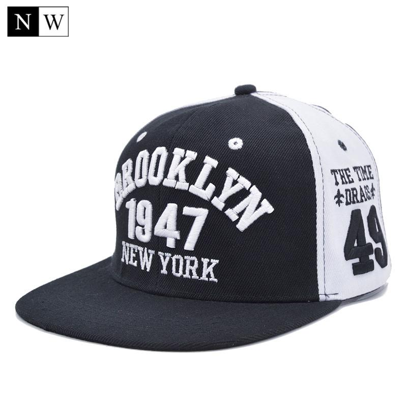 2019 Wholesale 2017 Casquette Brooklyn Cap Baseball Caps Brooklyn Style  1947 Bone New York Hat Adjustable 54 59cm Cotton Gorras Snapback From Stem 412795f88ad