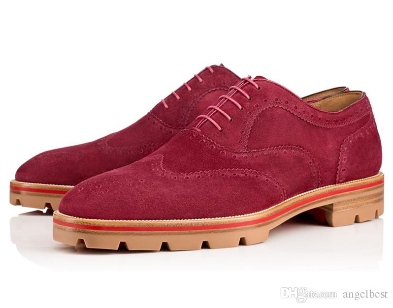 Vintage Nubuck Leather Mens Oxford Shoes 2017 New Spring British Style Brogue Shoe Suede Flats Business Men Casual Shoes Big Size 38-46