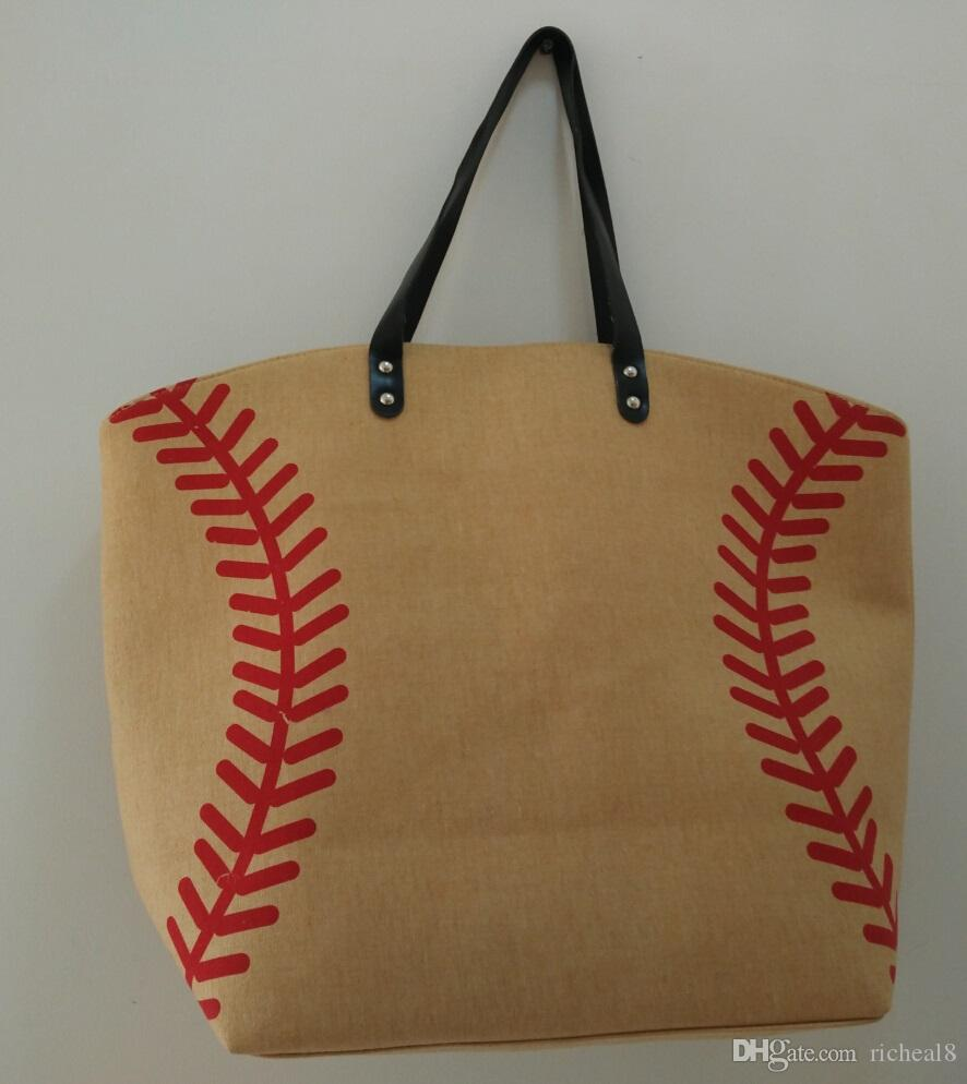 7 colors stock tan black white Blanks Cotton Canvas Softball Tote Bags Baseball Bag Football Bags Soccer ball Bag with Hasps Closure Sports