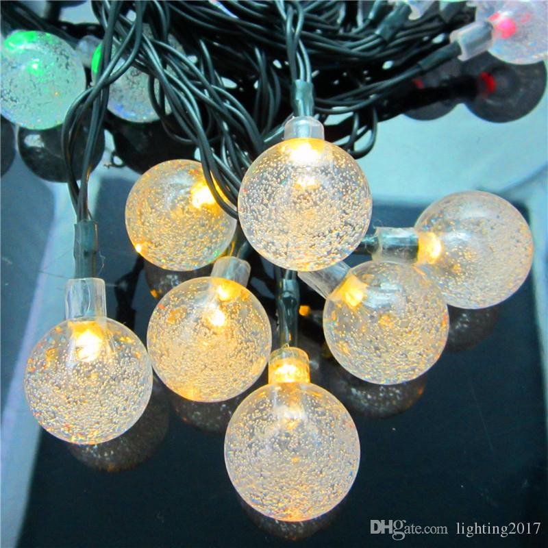 Solar String Light Multicolor 6M 30 LED Crystal Ball impermeabile l'albero di Natale Patio Lanscape Holiday Wedding Lawn Decoration