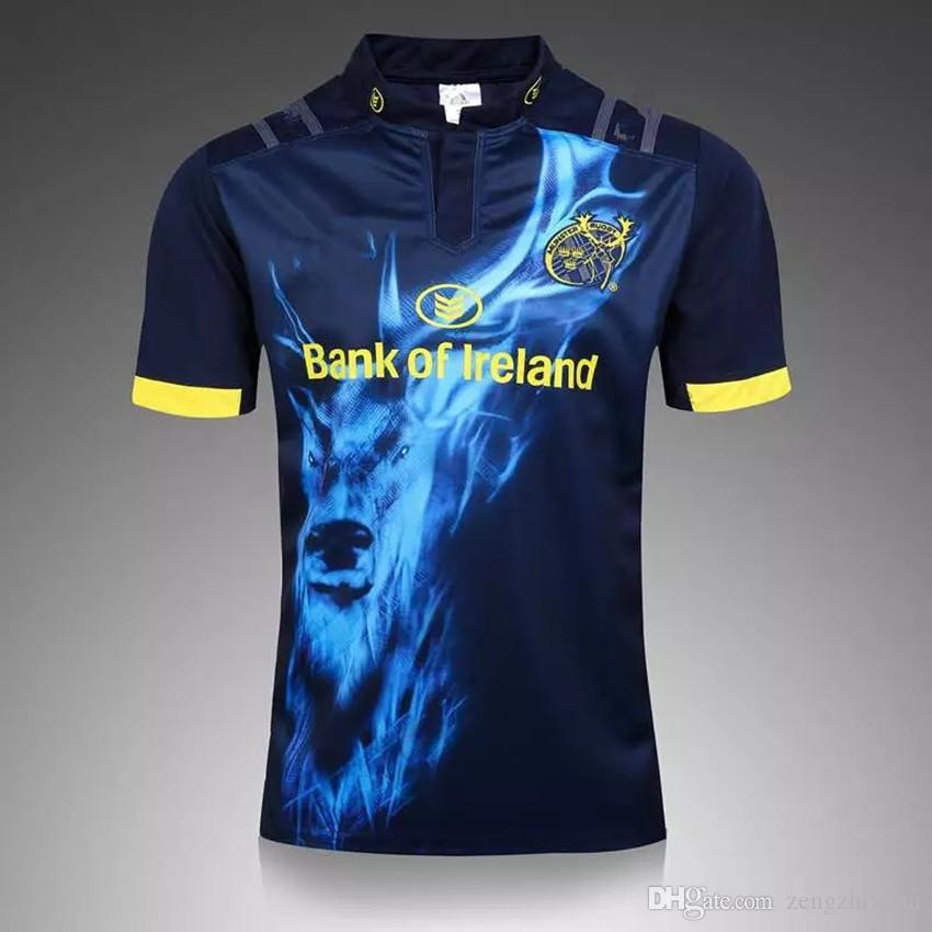 97bd2bcdb 2019 2017 2018 Munster Rugby Jerseys 17 18 Top Quality Home Away Rugby  Shirts Euro Size S 3XL Men Munster Shirts Ireland League Shirts From  Zengzhixuan, ...