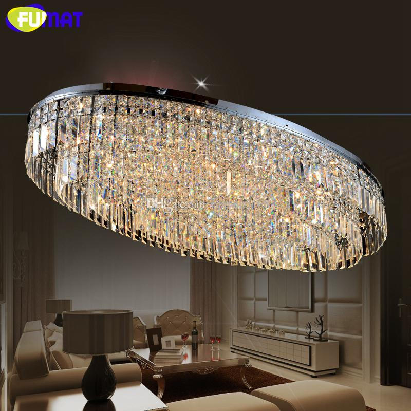 FUMAT K9 Crystal Chandelier LED Living Room