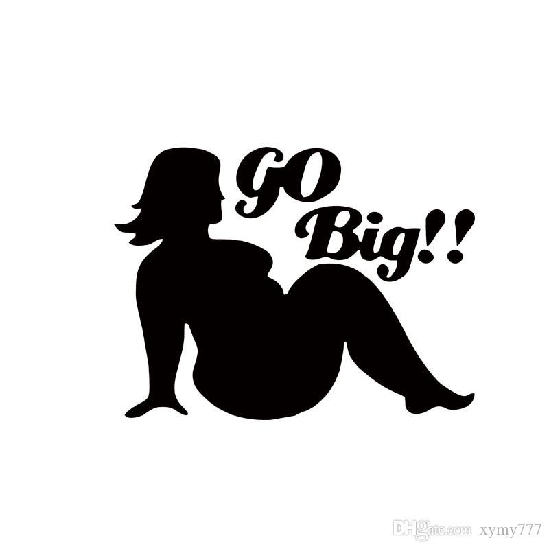 2017 Sıcak Satış Araba Stying Seksi Yağ Kızlar Git Büyük Logo Çıkartması Pencere Sticker Araba Aksesuarları JDM
