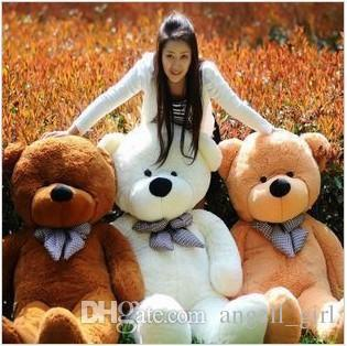 Hot Sale 80 Cotton Light Brown Giant 80cm Cute Plush Teddy Bear Huge Soft TOY