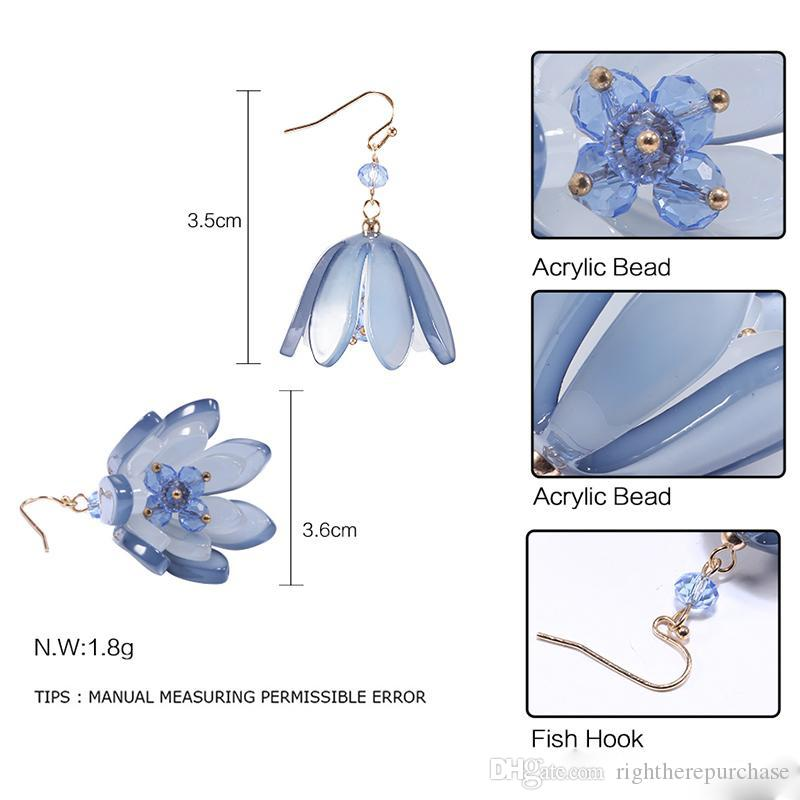 Chandelier Ear Rings Vintage Elegant Flower Charms Pendants Channel Earrings for Women DIY Jewelry Handcrafted