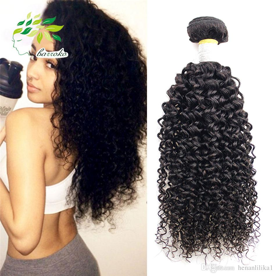 7a Peruvian Virgin Kinky Curly Weave Natural Color Curly Human Hair
