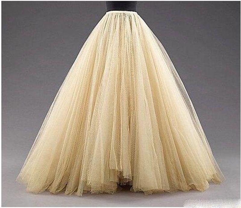 Tulle lange Frauen-Art- und Weiseröcke ALine überlagerte Ballettröckchen-Fußboden-Längen-nach Maß Größe plus Größen-Partei-Abschlussball-erwachsene Abnutzungs-Frühlings-Herbst-preiswertes Kleid