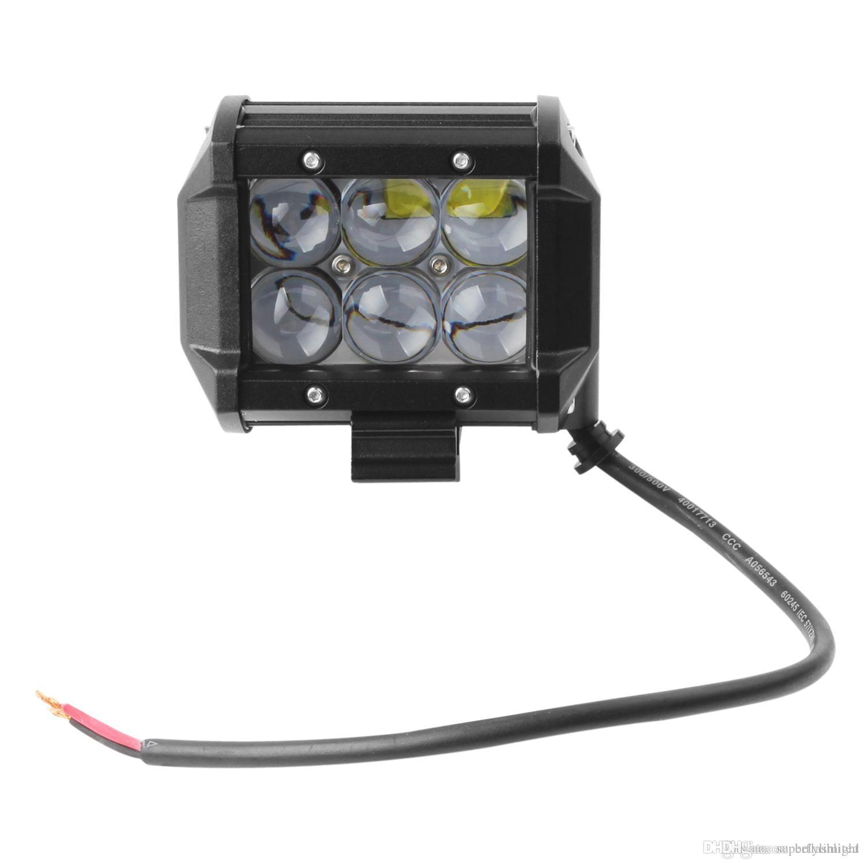 Lâmpada 4VD SUV Off-road SUV do ponto de trabalho do diodo emissor de luz do veículo 30W 2550LM de 4 polegadas que conduz a lâmpada