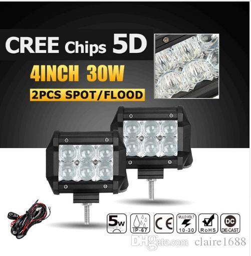 Großhandel 5d 30w 4inch Spot / Flut Cree Chips Led Arbeitslicht ...