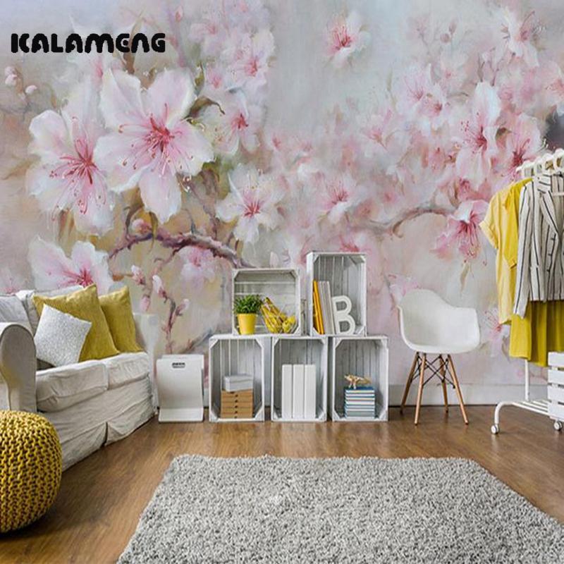 Kalameng Custom 3d Wallpaper Design Oil Paint Peony Photo Kitchen Bedroom  Living Room Wall Murals Papel De Parede Para Quarto Wallpaper Images Hd  Wallpaper ...
