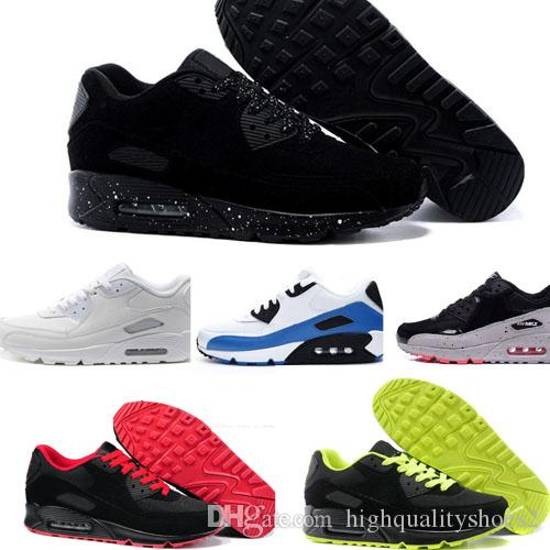 2d0951146648b Compre Nike Air Max 90 De Deporte Para Hombre Zapatos Clásicos Deporte  Negro Rojo Blanco Zapatillas De Deporte Zapatillas De Deporte De Superficie  ...