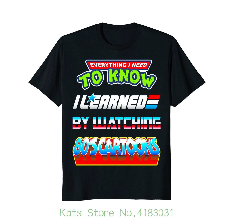 80s Cartoons Funny Retro Cartoon T Shirt Men S T Shirts Summer Style