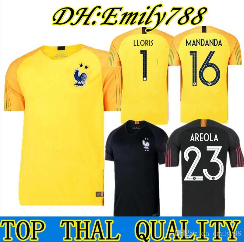 Liga Nacional De La UEFA Maillot De Pie Copa Del Mundo 2018 Francés 2  Estrellas Camisetas De Fútbol Portero GRIEZMANN MBAPPE Francia  Entrenamiento Kits De ... 18ef56d0fa74e