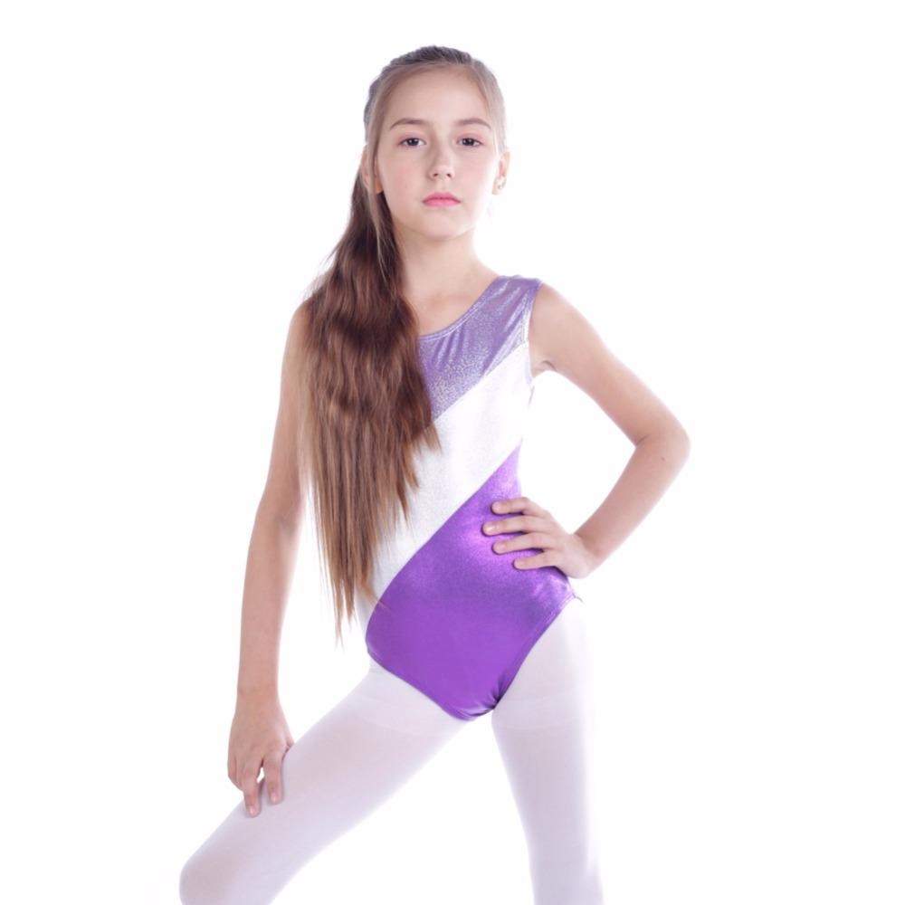 c2dba9aa5 2019 Girls Gymnastic Leotards Kids Ribbon Sleeveless Dance Leotards ...