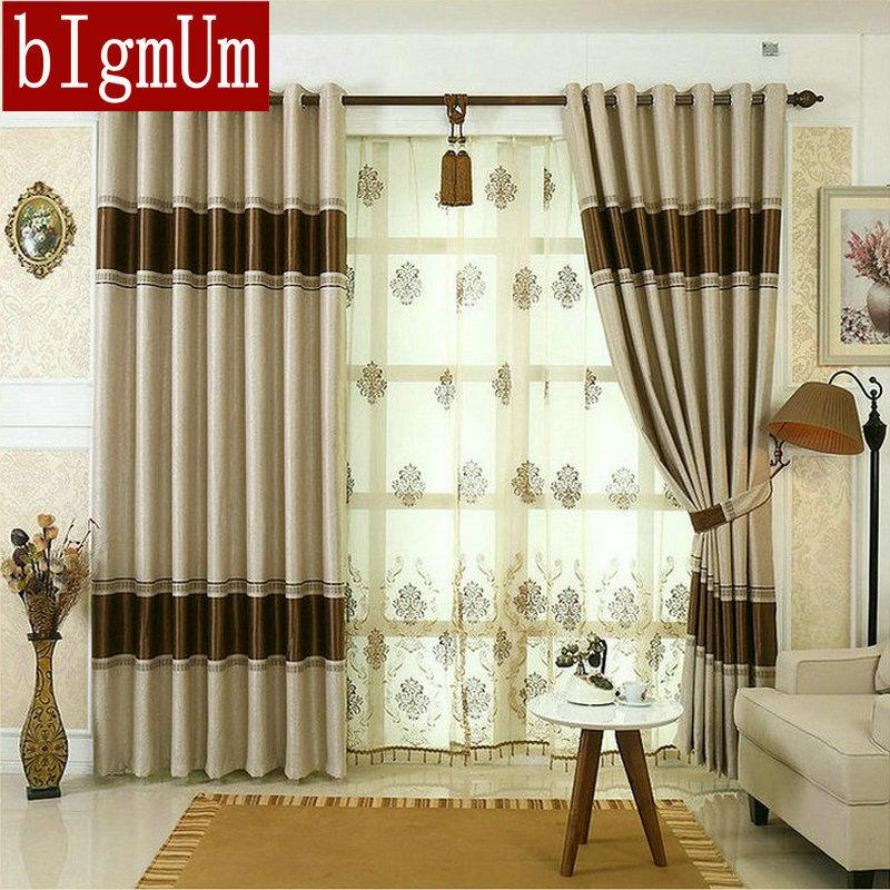 Blackout Curtains For Living Room Hotel European Simple Design Window Drape Embroidered Tulle Beaded Designer