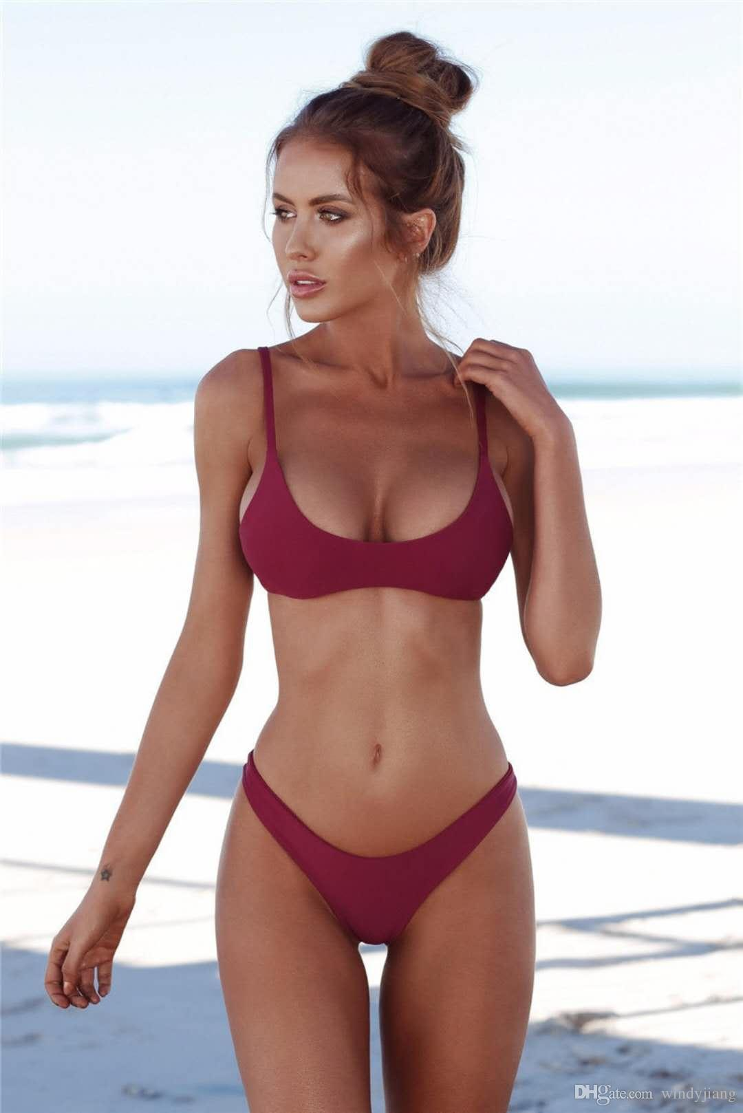 Hot swimsuit bikini model