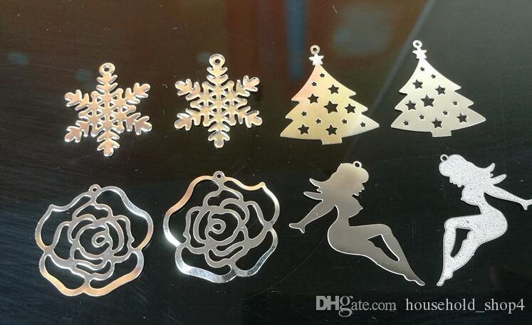 Titular da Vela de Aço inoxidável Pendurado Ornamento Girando Castiçal Presentes Criativos Cervos Estrela Do Anjo Do Floco De Neve Do Coração Da Árvore de Natal Fada Rosa