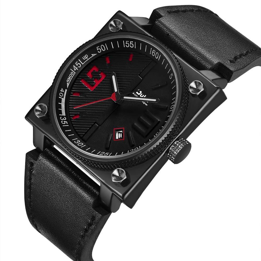 Compre Oulm Famous Brand Watches Relojes Deportivos De Moda Para Hombre  Dial Cuadrado De Cuarzo Cool Watch Reloj De Pulsera De Cuero Para Hombre  Reloj Para ... 4b0f078cf818