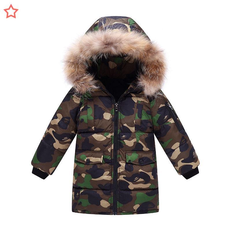 garçons enfants hiver nouveau motif enfant doudoune rembourré dans les enfants catamite bébé long fonds camouflage vrac manteau marée