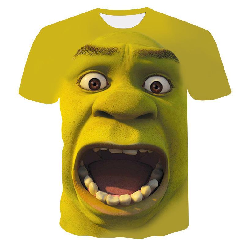 Compre Shrek Shirt Funny Camisetas Hip Hop Ropa Manga Corta Camiseta Street 3d  Impresión Camiseta Hombre Ropa 2018 Verano Nueva A  24.11 Del Benedica ... 3dc71322eaee6