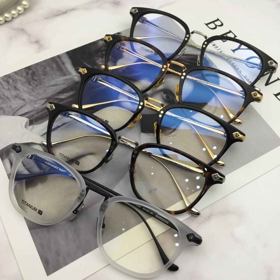 7eb616e4f95 2019 Men Chrome Shagass Black Gold Optical Eyewear Eyeglasses Frame Fashion  Eyeglass New With Box From Hlwy