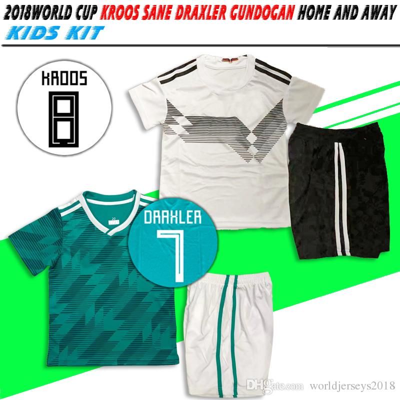 478d32391 2018 World Cup National Team  10 OZIL White Home Kids Kit Soccer ...