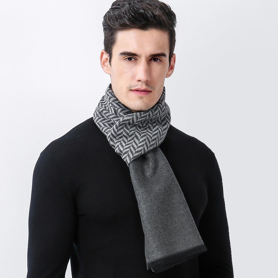 Apparel Accessories 2018 Winter Cashmere Scarf Brand Men Scarves Fashion Korean Bussiness Casual Scarves Comfortable All-match Men Silk Scarf