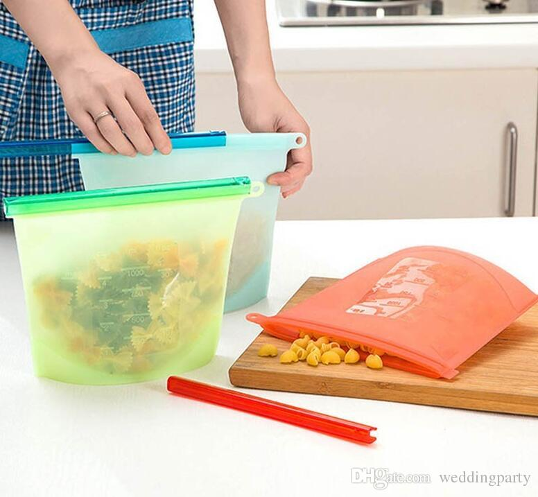 Kitchen Tools Storage Bags Silicone Fresh Storage Bags Food Preservation For Home Food kitchen Organization Gadgets DHL