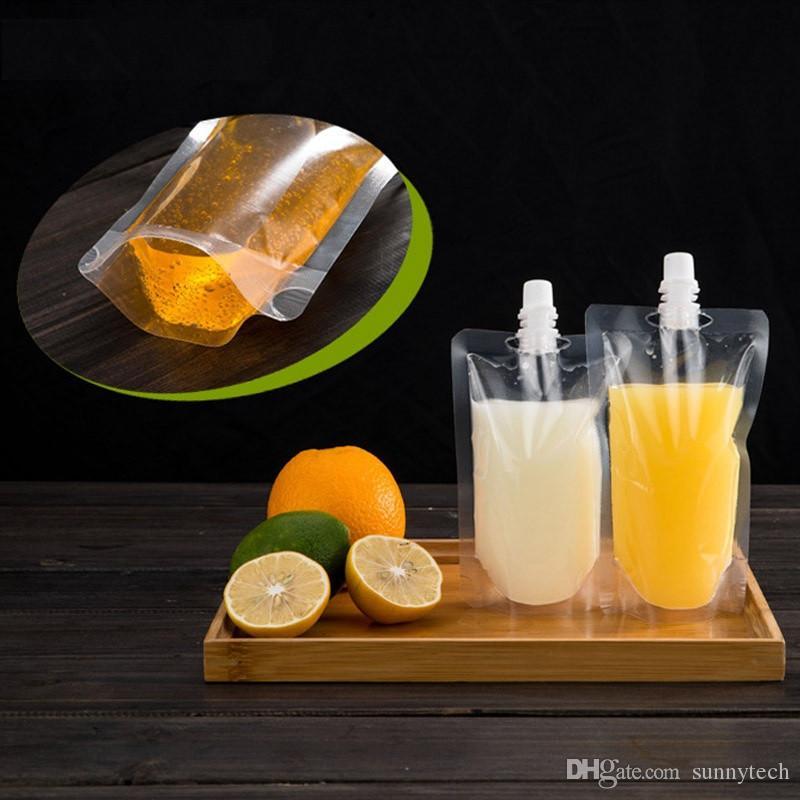 Раговорного жанра мешок Spout мешка пластичного питья упаковывая для кофе 200-500ml Lx0080 молока сока напитка жидкостного