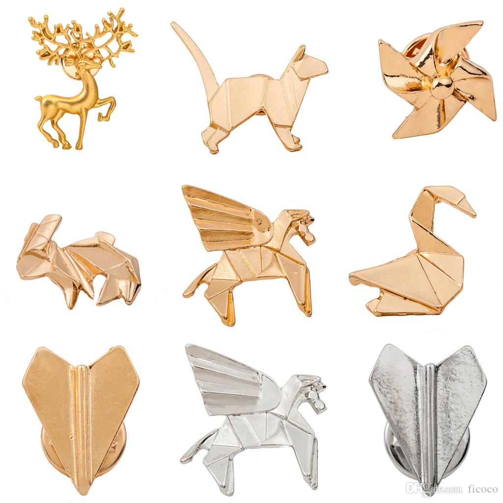 14 Styles Gold Silver Plated Animal Pin Brooch Designer Brooches Badge  Metal Enamel Pin Broche Women Luxury Jewelry Party Decoration