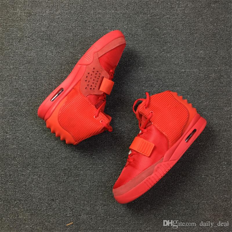 2018 Air 2 II SP Red October Baskeball Shoes Kanye West With Dust Bag And Box Men 508214-660 Fashion Athletics Sneakers Newest