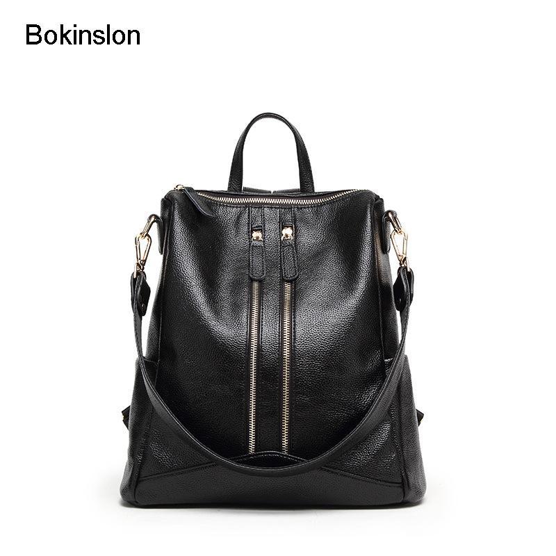 Bokinslon Womens Backpack Bag Fashion Popular Woman Bag PU Leather ... 091e0fec63158