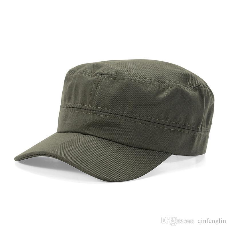 Compre Homem Mulheres Chapéus Militares Chapéus De Patrulha De Marinheiro  Gorras De Algodão Feminino Viseira Sólida Chapéu Cap Militar Sol Panamá Top  ... 7385aaa6172