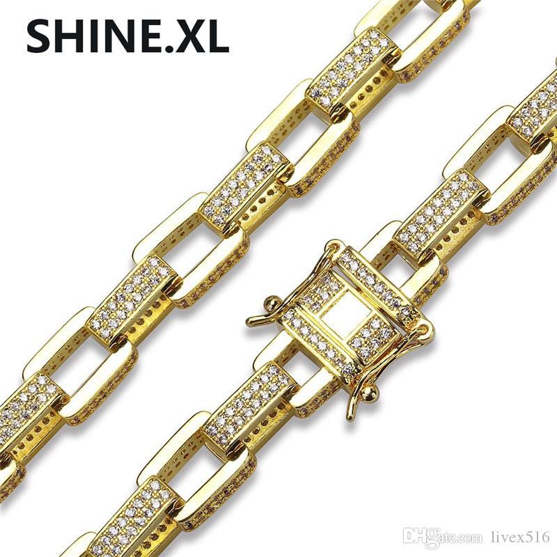 قلادة سلسلة ذهبية للرجال والأساور النحاس الذهب / اللون الفضي مطلي مايكرو تمهيد تشيكوسلوفاكيا حجر الهيب هوب مجموعة مجوهرات