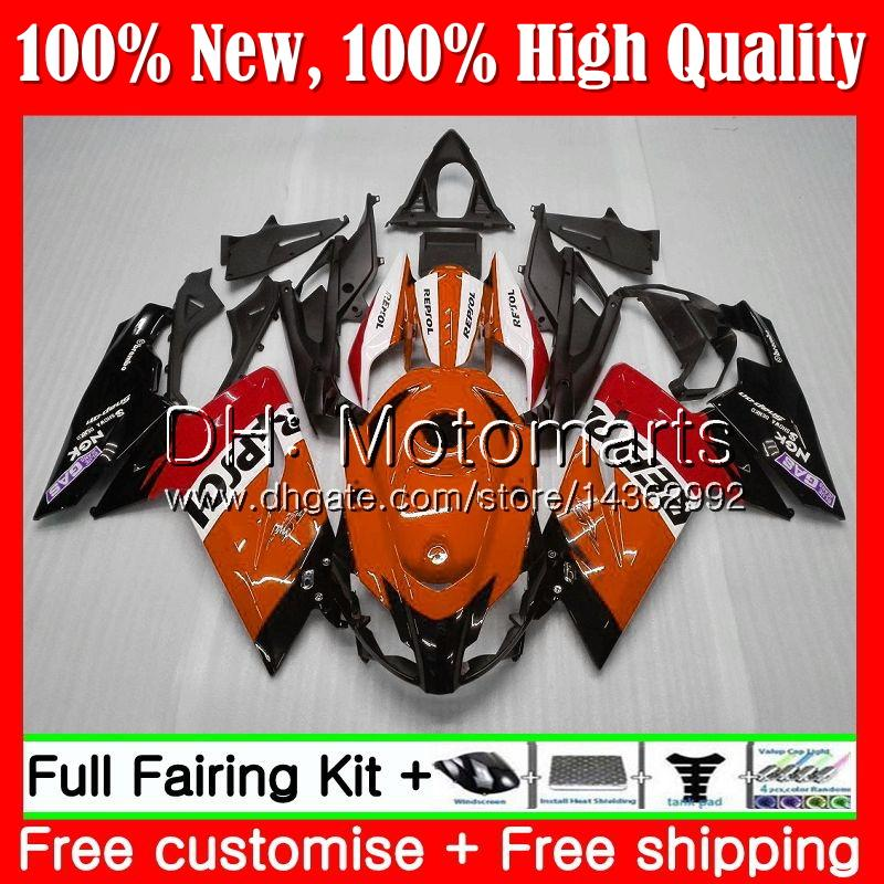 Inyección para Aprilia RS4 RSV125 RS125 06 07 08 09 10 11 Repsol rojo RS-125 0MT5 RSV RS 125 2006 2007 2008 2009 2010 2011 Fairing Bodywork