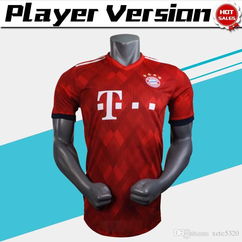 c7033e715 2019 Player Version 2019  25 MULLER Bayern Munich Home Soccer Jersey 18 19  Home Red Soccer Shirt  11 JAMES  9 LEWANDOWSKI Football Uniform From  Xctc5320