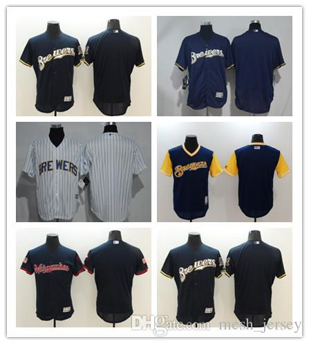 d4cc7f734d0 Custom Brewers Jersey Men Women Youth Majestic Personalized  00 Any ...