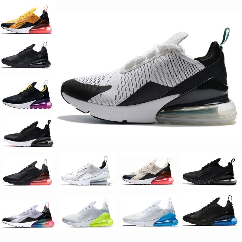 2c09e1bddc19 Acheter Nike Air Max 270 HOT SALE Teal Mens Designer Sports 270 Chaussures  De Course Pour Hommes Sneakers Casual Femmes Noir Blanc Blanc Volt Hyper  Grape ...