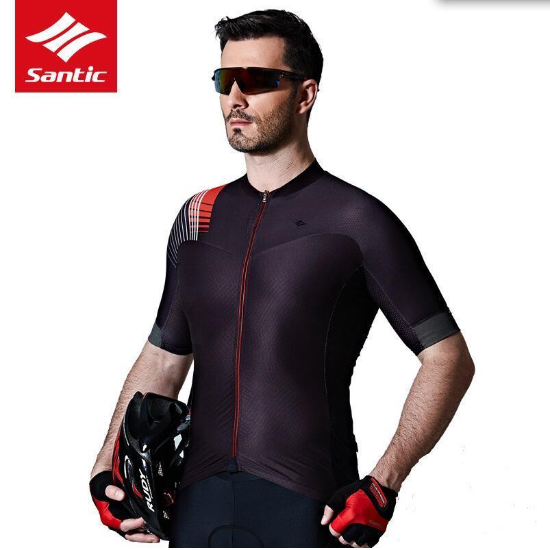 Santic 2017 Men Cycling Jersey Short Sleeve Pro Team Padded Sets ... 3253d6271