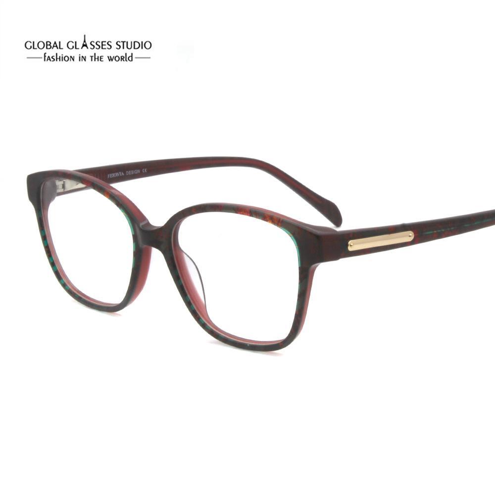 Fashion Eyeglasses Frames Vintage Women Designer Eyewear Frame ...