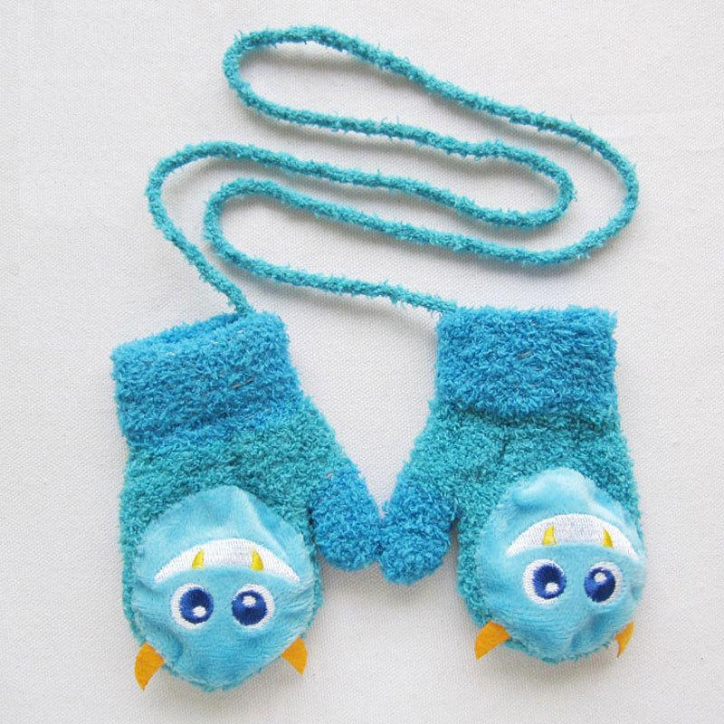 Baby Boys Girls Winter Warm Gloves Cute Cartoon Thicken Warm Fleece Infant Newborn Mittens for 0-12 Month 2017 new S1025