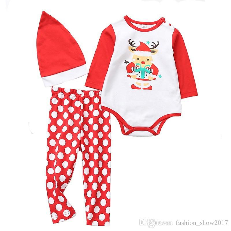 06fb8a07f 2019 Christmas Cute Newborn Infant Baby Boy Girl Clothes Romper Tops ...