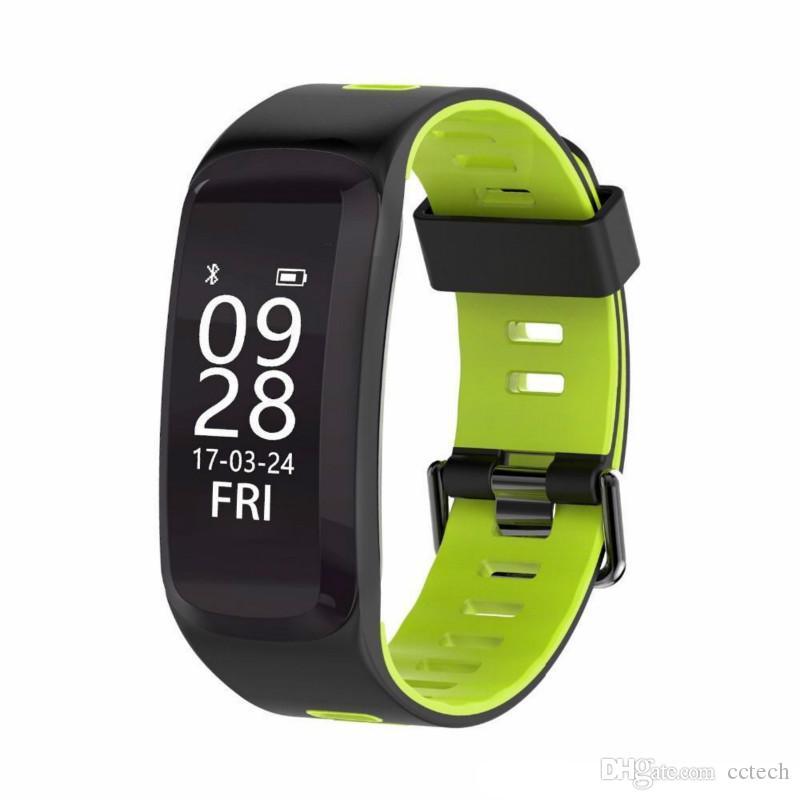 New Bluetooth 4.0 F4 Smart Sport Bracelet IP68 Swimming watch Heart Rate Monitor Blood pressure Oxygen Outdoor Altitude UV GPS Wristband