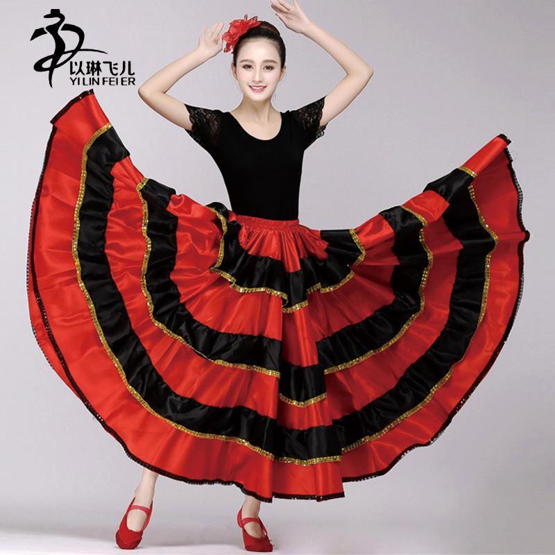 Acquista Nuova Gonna Di Flamenco Ragazze   Vestito Da Flamenco Spagnolo    Gonna Salsa Latino Da Ballo A  34.11 Dal Sandlucy  ee3de55a061